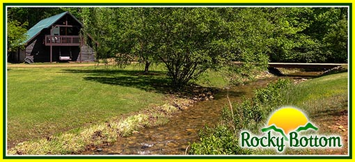 North Carolina Creekside Cabin Rental - Rocky Bottom