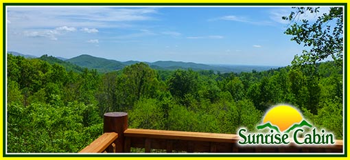 North Carolina Sunrise Cabin Rental on Biggerstaff Mountain